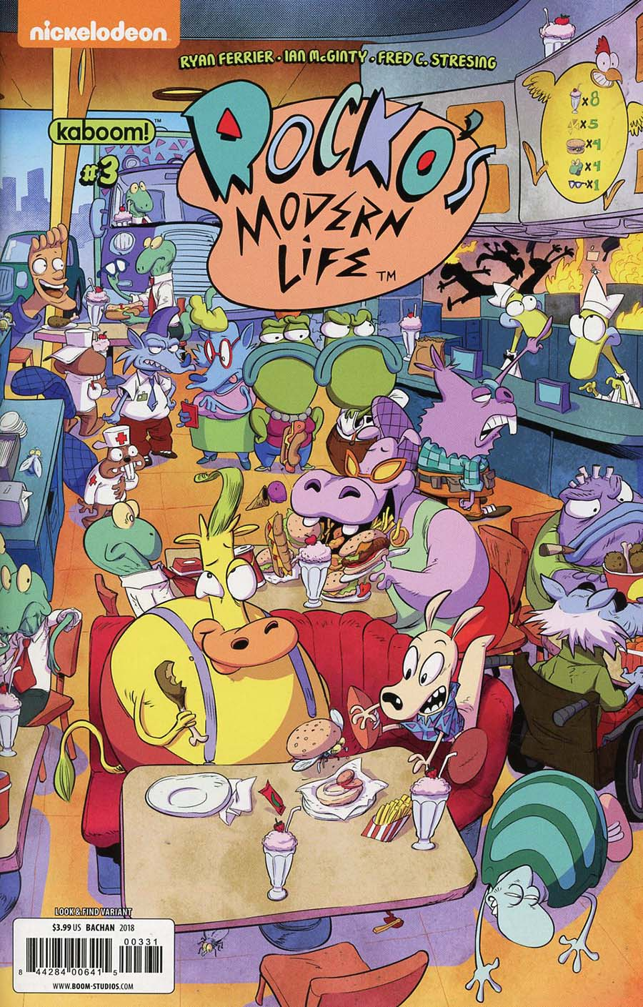 Rockos Modern Life Vol 2 #3 Cover C Variant Bachan Cover