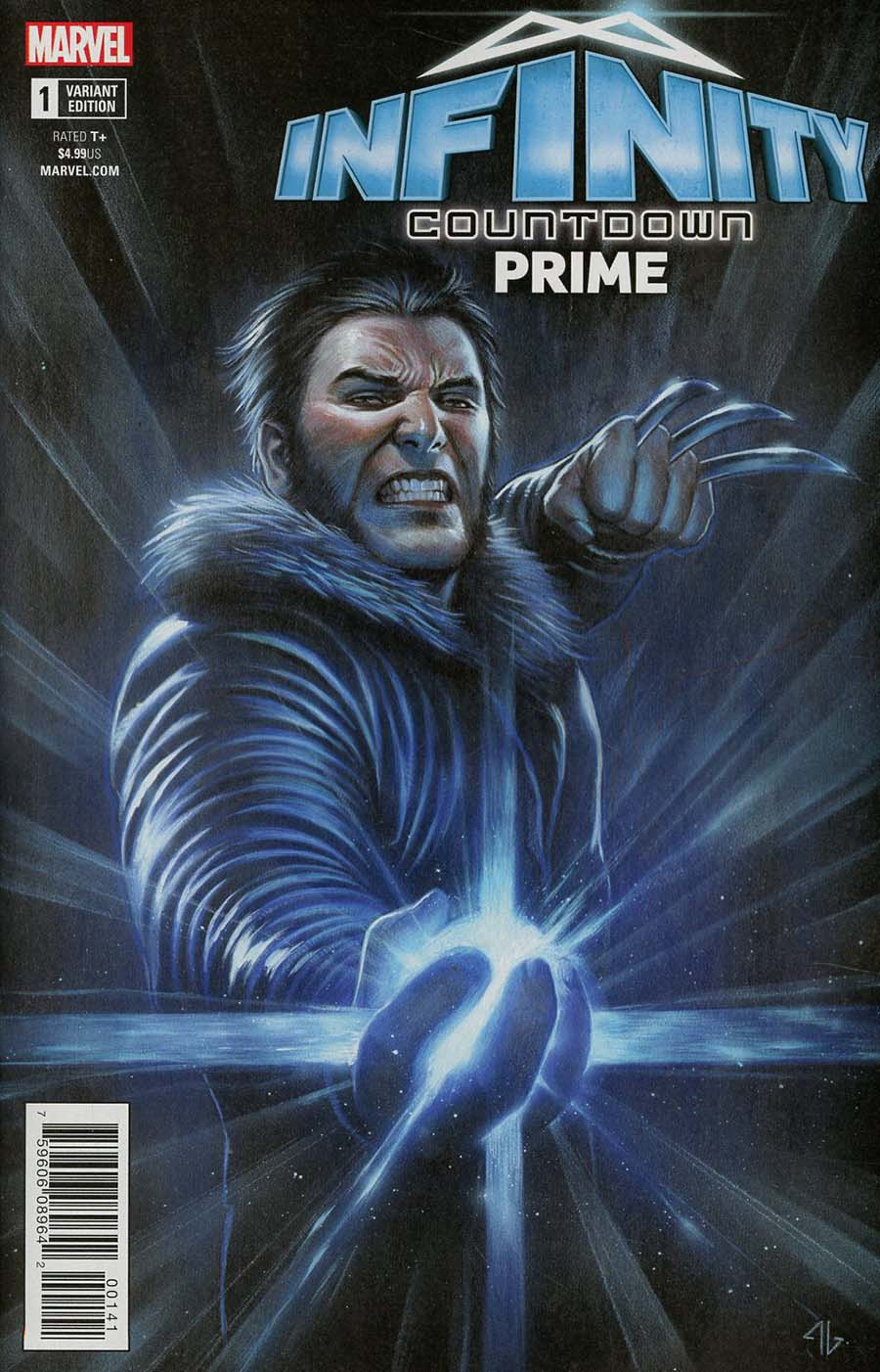 Infinity Countdown Prime #1 Cover D Variant Adi Granov Logan Holds Infinity Cover
