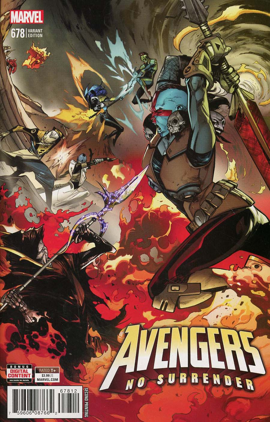 Avengers Vol 6 #678 Cover E 2nd Ptg Variant Pepe Larraz Cover (No Surrender Part 4)(Marvel Legacy Tie-In)