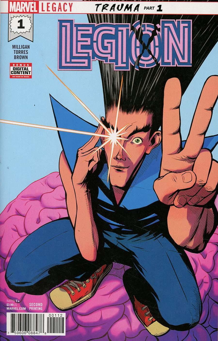 Legion (Marvel) #1 Cover E 2nd Ptg Variant Javier Rodriguez Cover (Marvel Legacy Tie-In)