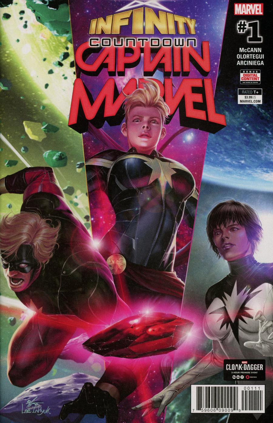 Infinity Countdown Captain Marvel #1 Cover A 1st Ptg Regular In-Hyuk Lee Cover