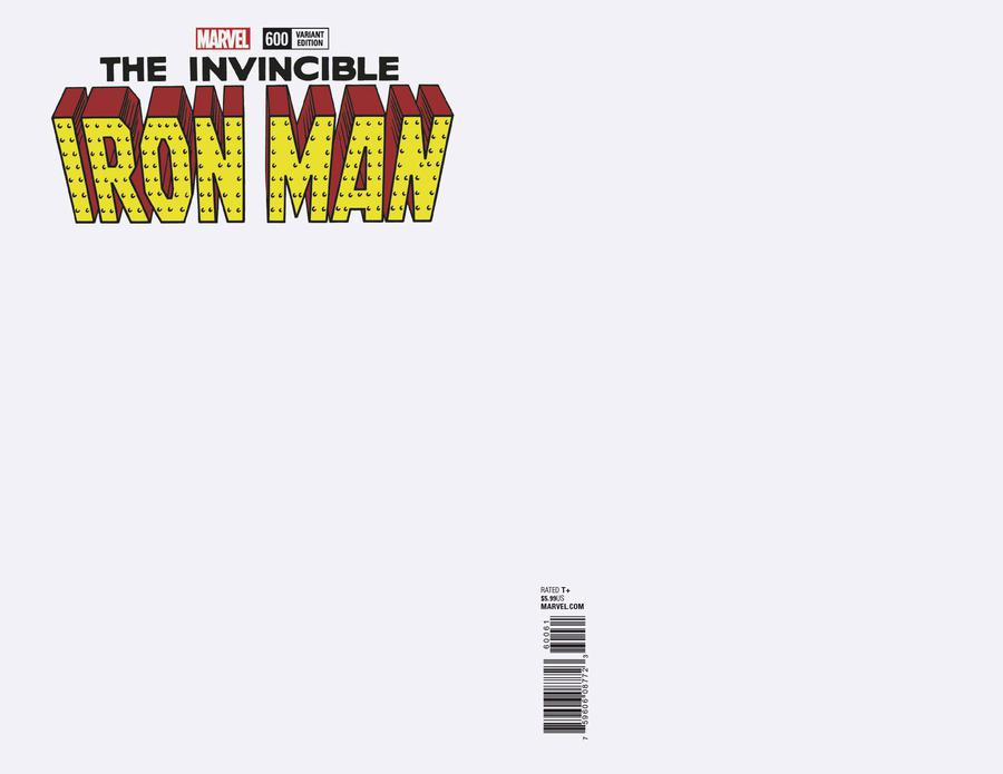 Invincible Iron Man Vol 3 #600 Cover B Variant Blank Cover