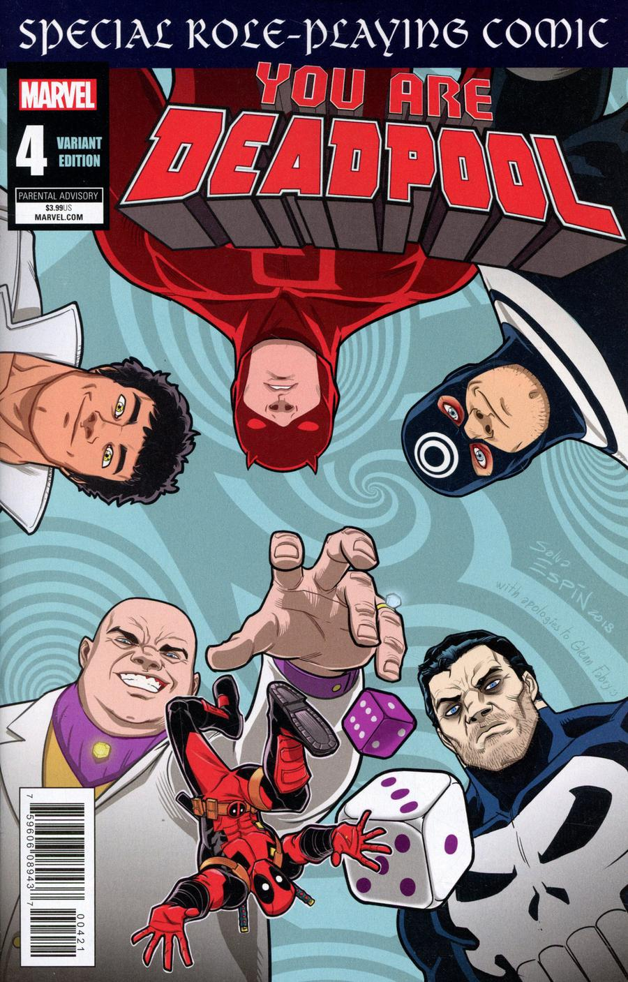 You Are Deadpool #4 Cover B Variant Salva Espin RPG Cover
