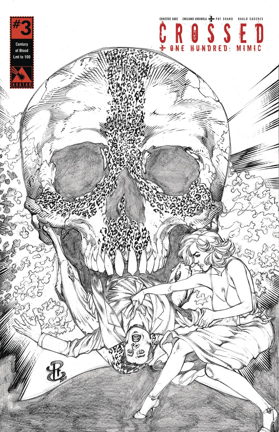 Crossed Plus 100 Mimic #3 Cover J Century Of Blood Cover