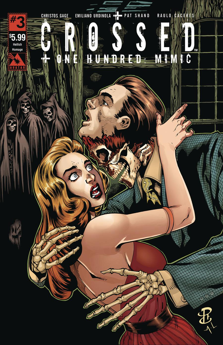 Crossed Plus 100 Mimic #3 Cover D Hellish Homage Cover