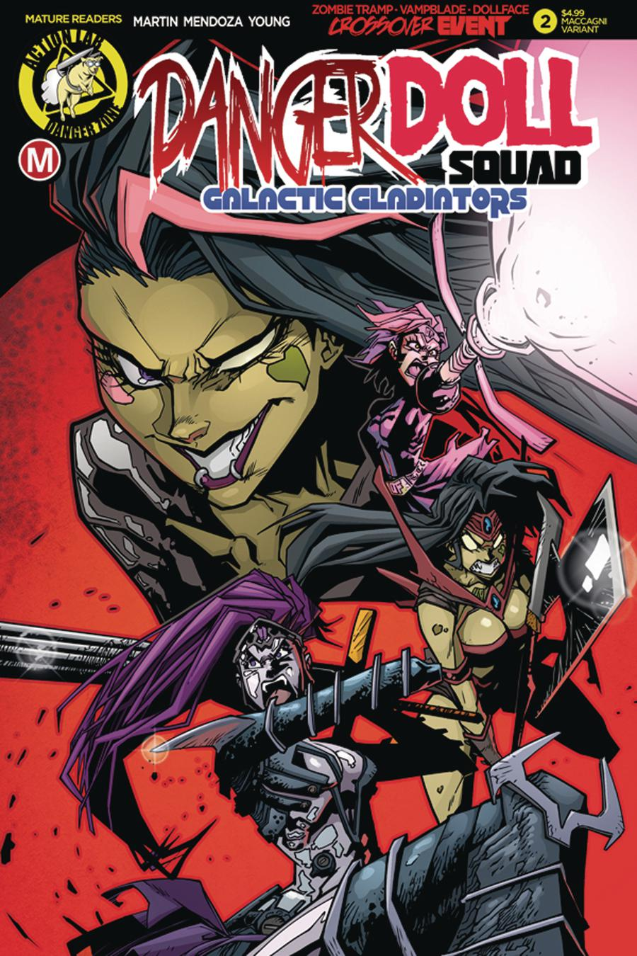 Danger Doll Squad Galactic Gladiators #2 Cover C Variant Marco MacCagni Cover