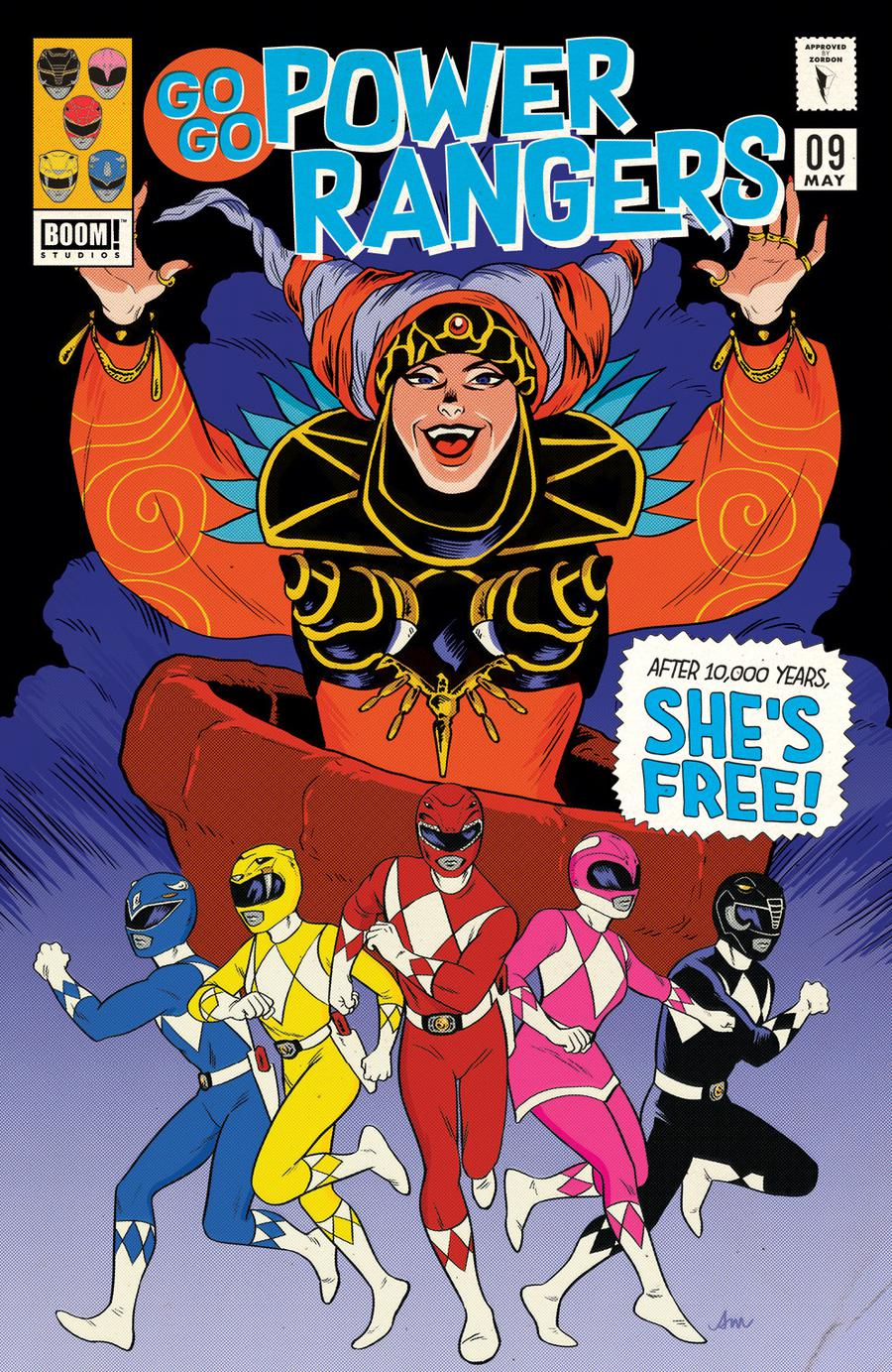 Sabans Go Go Power Rangers #9 Cover B Variant Audrey Mok Subscription Cover (Shattered Grid Part 2)