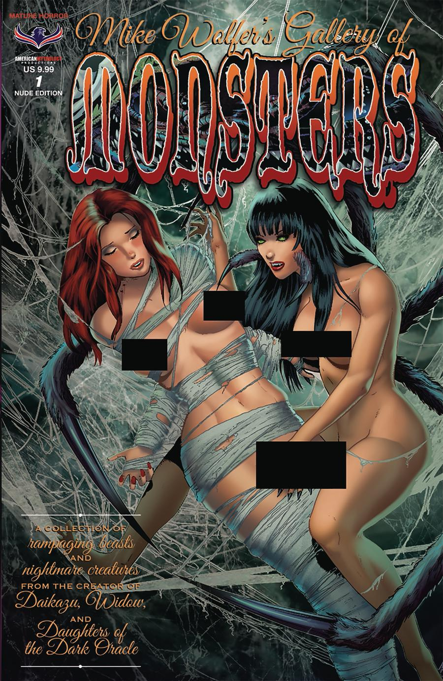 Mike Wolfers Gallery Of Monsters #1 Cover B Variant Mike Wolfer Nude Cover