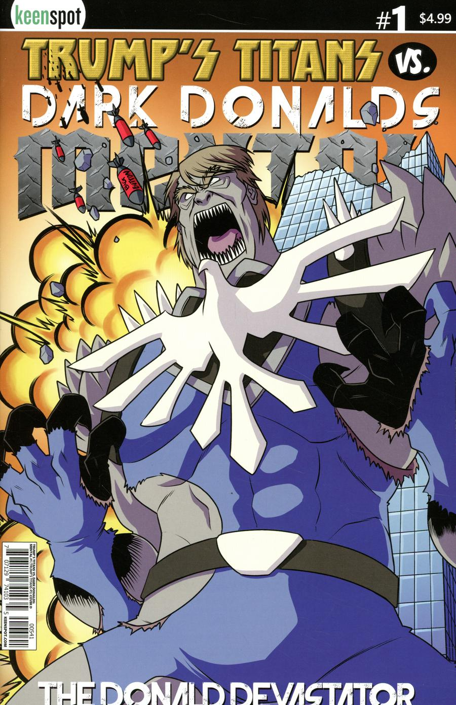 Trumps Titans vs Dark Donalds Mental #1 Cover D Variant The Donald Devastator Cover