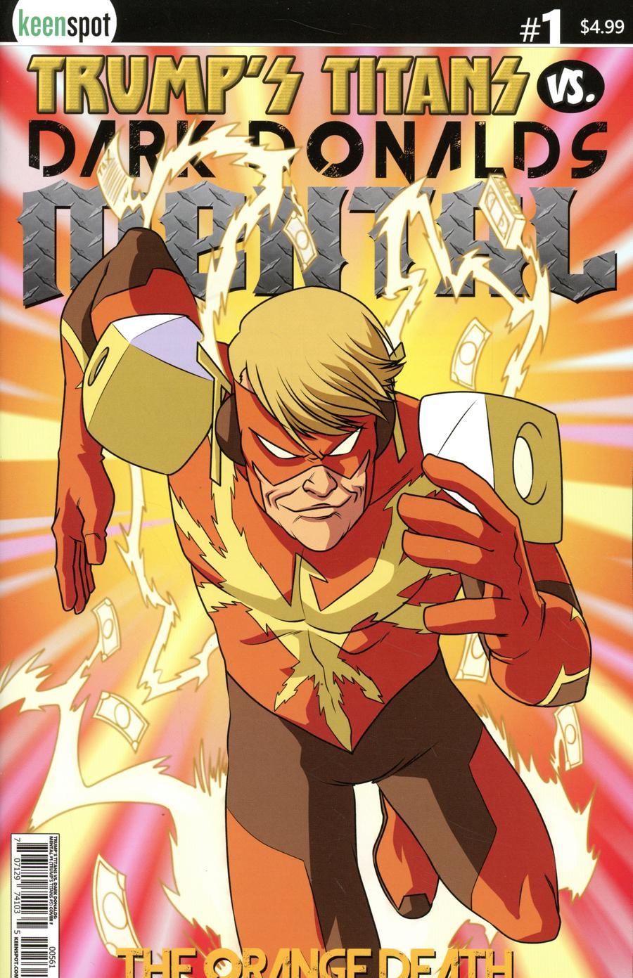 Trumps Titans vs Dark Donalds Mental #1 Cover F Variant The Orange Death Cover
