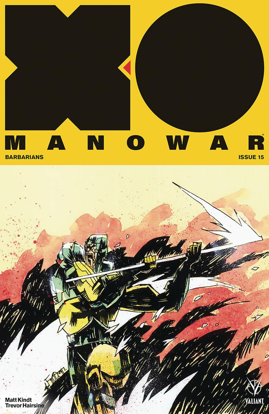 X-O Manowar Vol 4 #15 Cover B Variant Jim Mahfood Cover