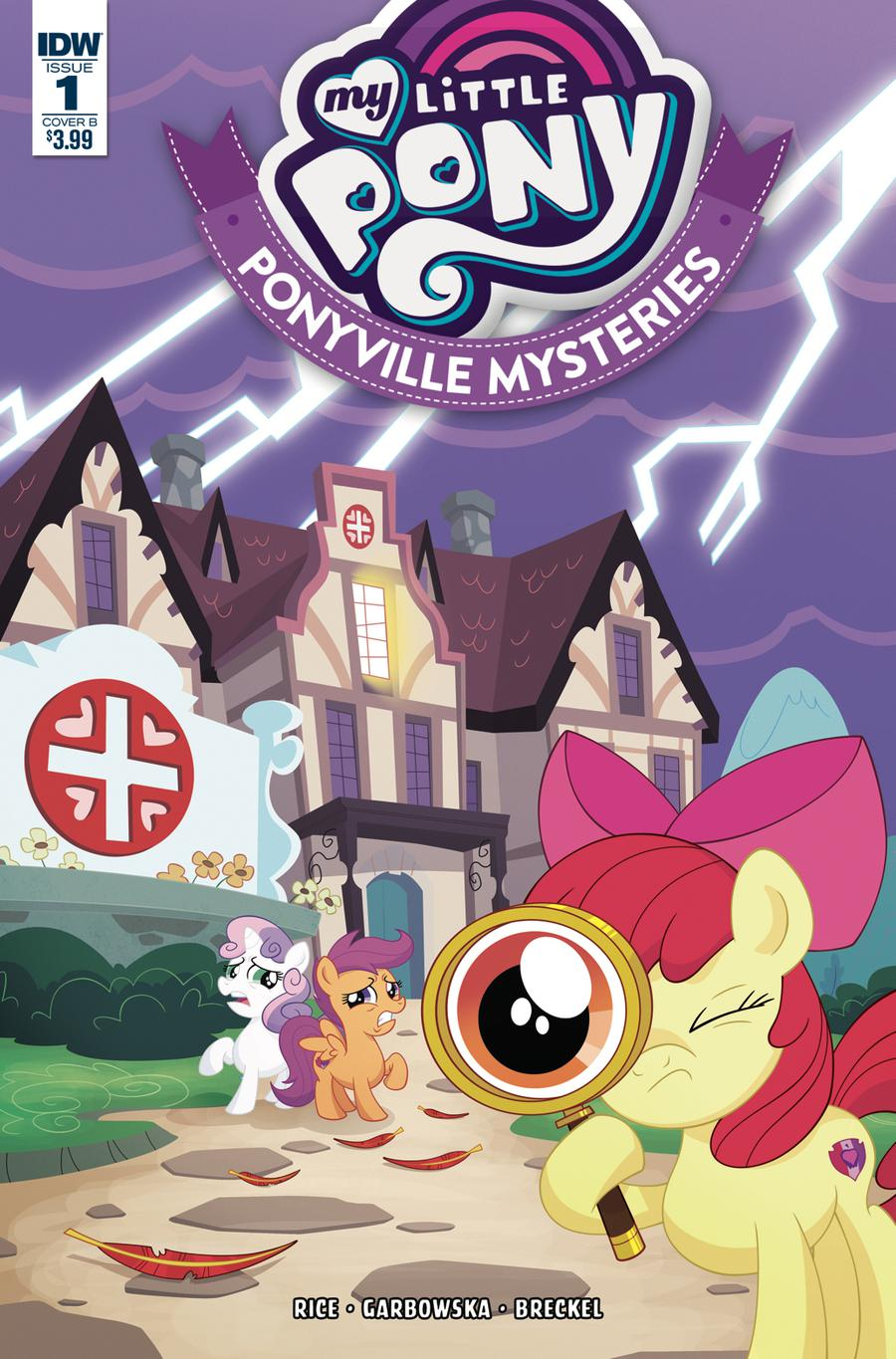 My Little Pony Ponyville Mysteries #1 Cover B Variant Philip Murphy Cover