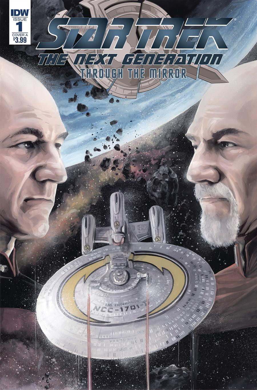 Star Trek The Next Generation Through The Mirror #1 Cover A Regular JK Woodward Cover