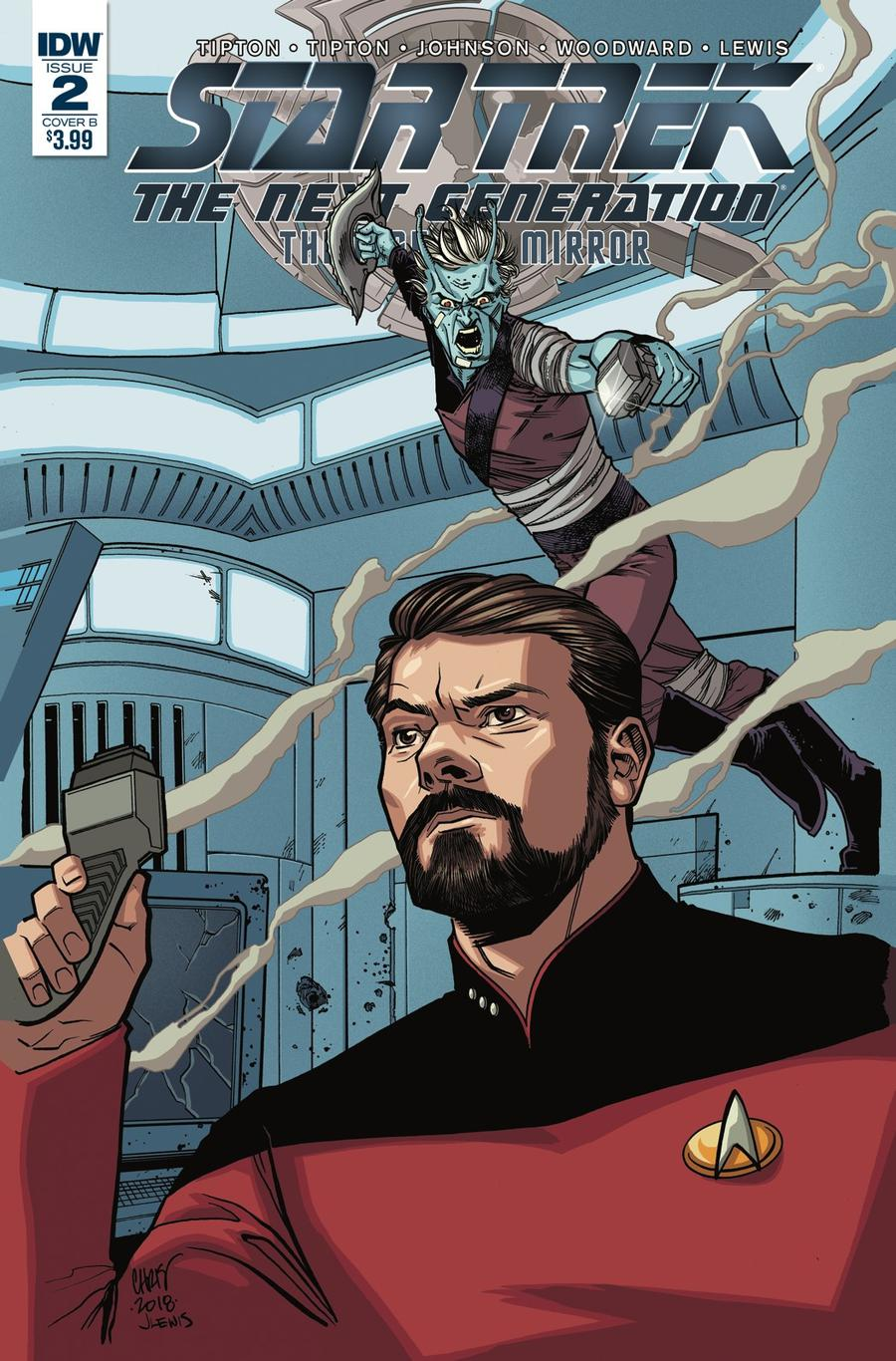 Star Trek The Next Generation Through The Mirror #2 Cover B Variant Marcus To Cover