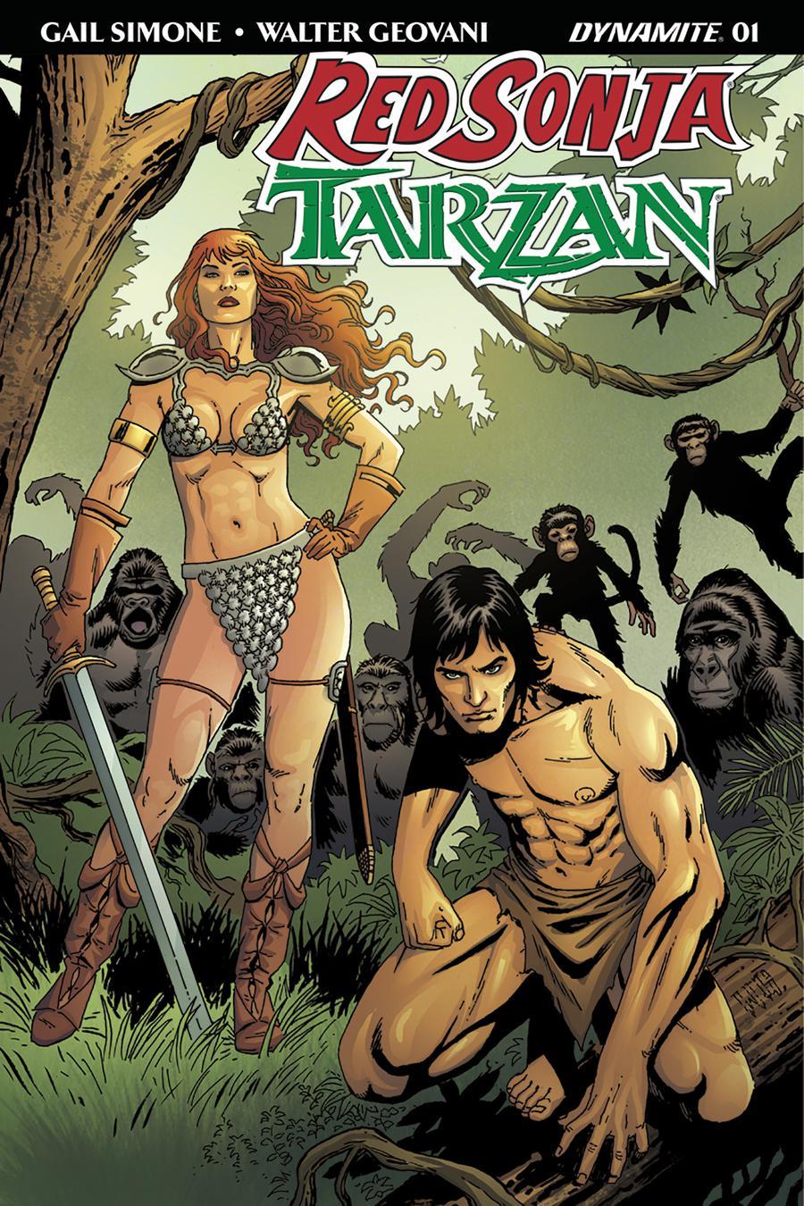 Red Sonja Tarzan #1 Cover D Variant Walter Geovani Cover