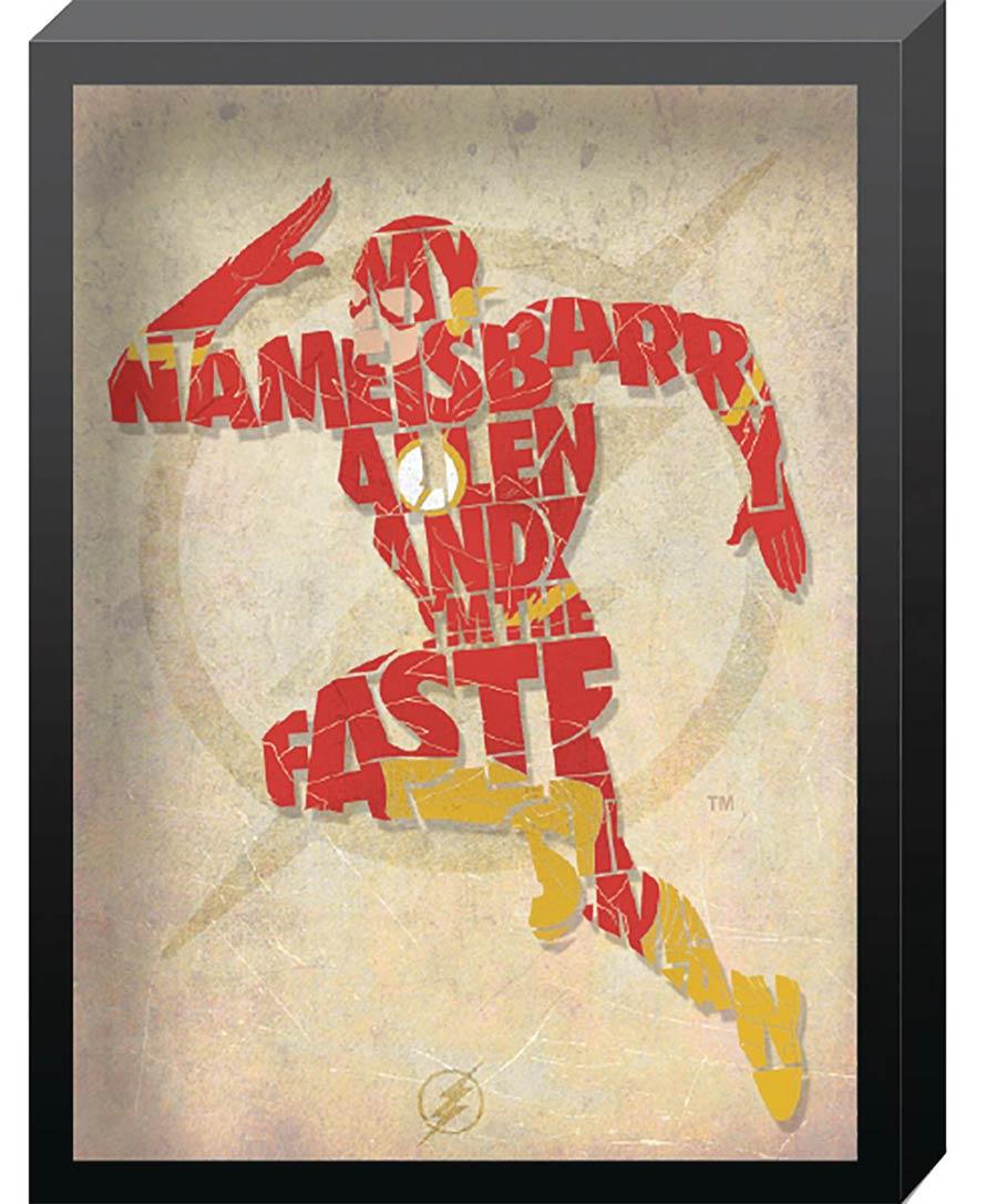 DC Comics Outline Printed Glass Art - Flash