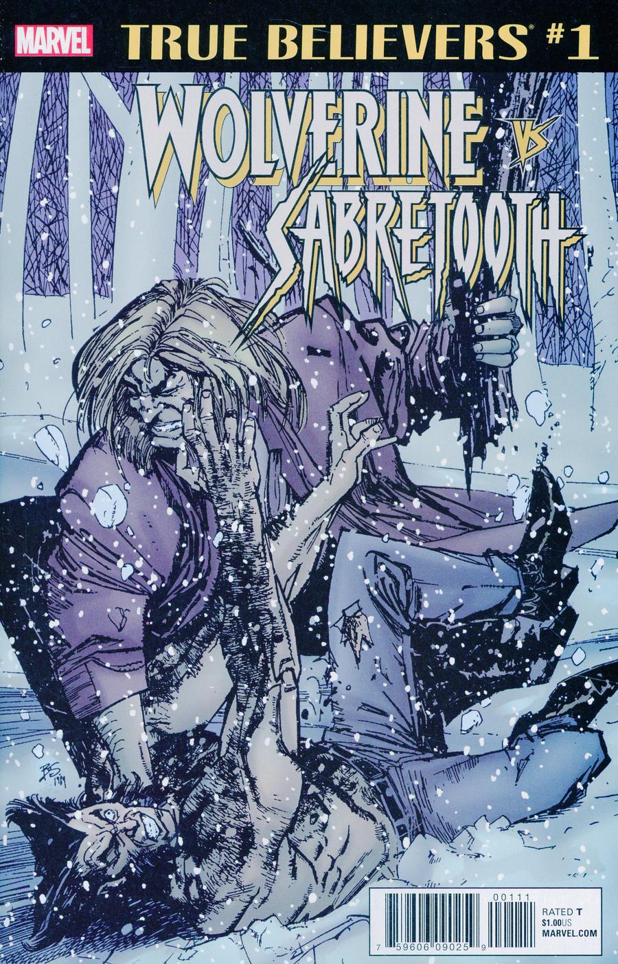 True Believers Wolverine vs Sabretooth #1