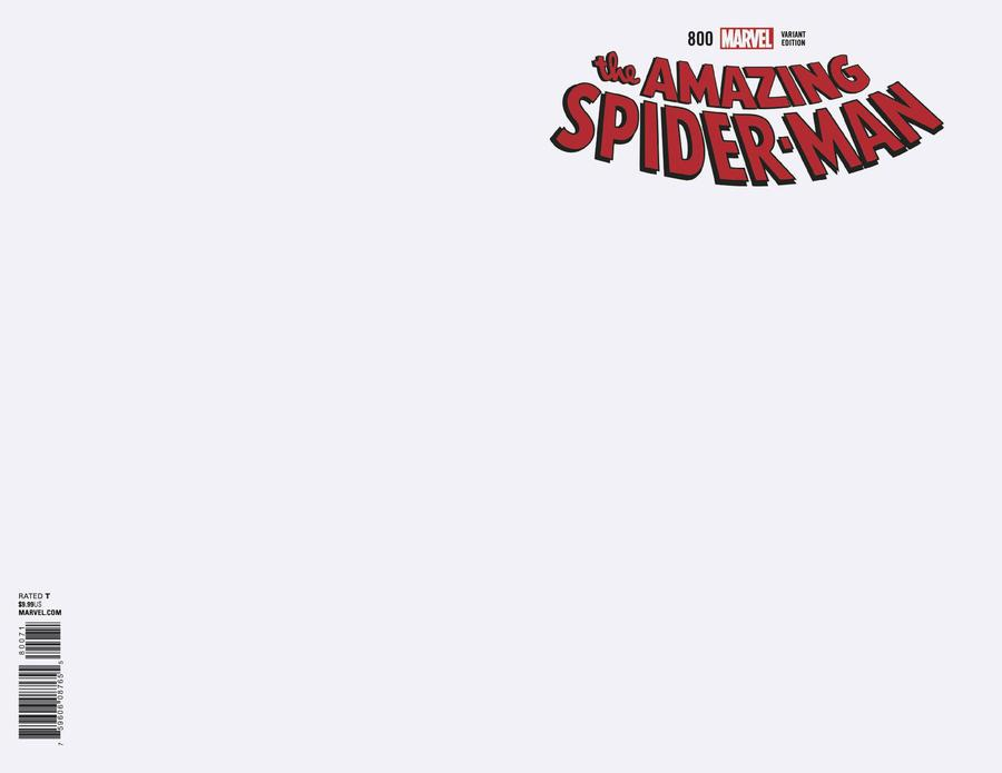 Amazing Spider-Man Vol 4 #800 Cover M Variant Blank Cover