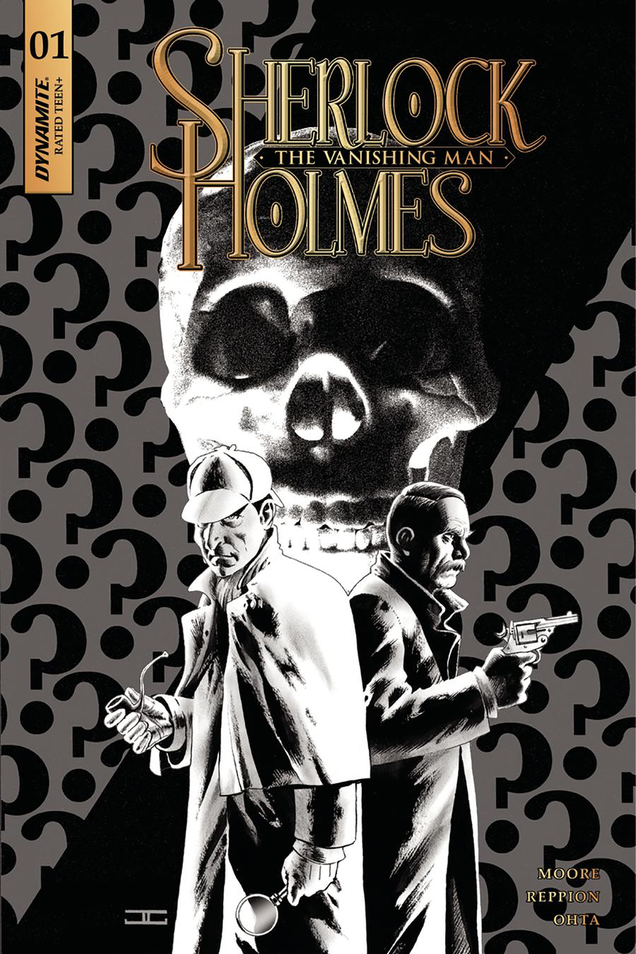 Sherlock Holmes Vanishing Man #1 Cover C Incentive John Cassaday Black & White Cover