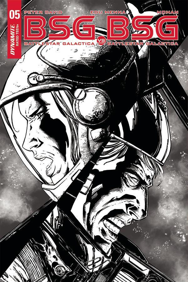 Battlestar Galactica vs Battlestar Galactica #5 Cover F Incentive Johnny Desjardins Black & White Cover