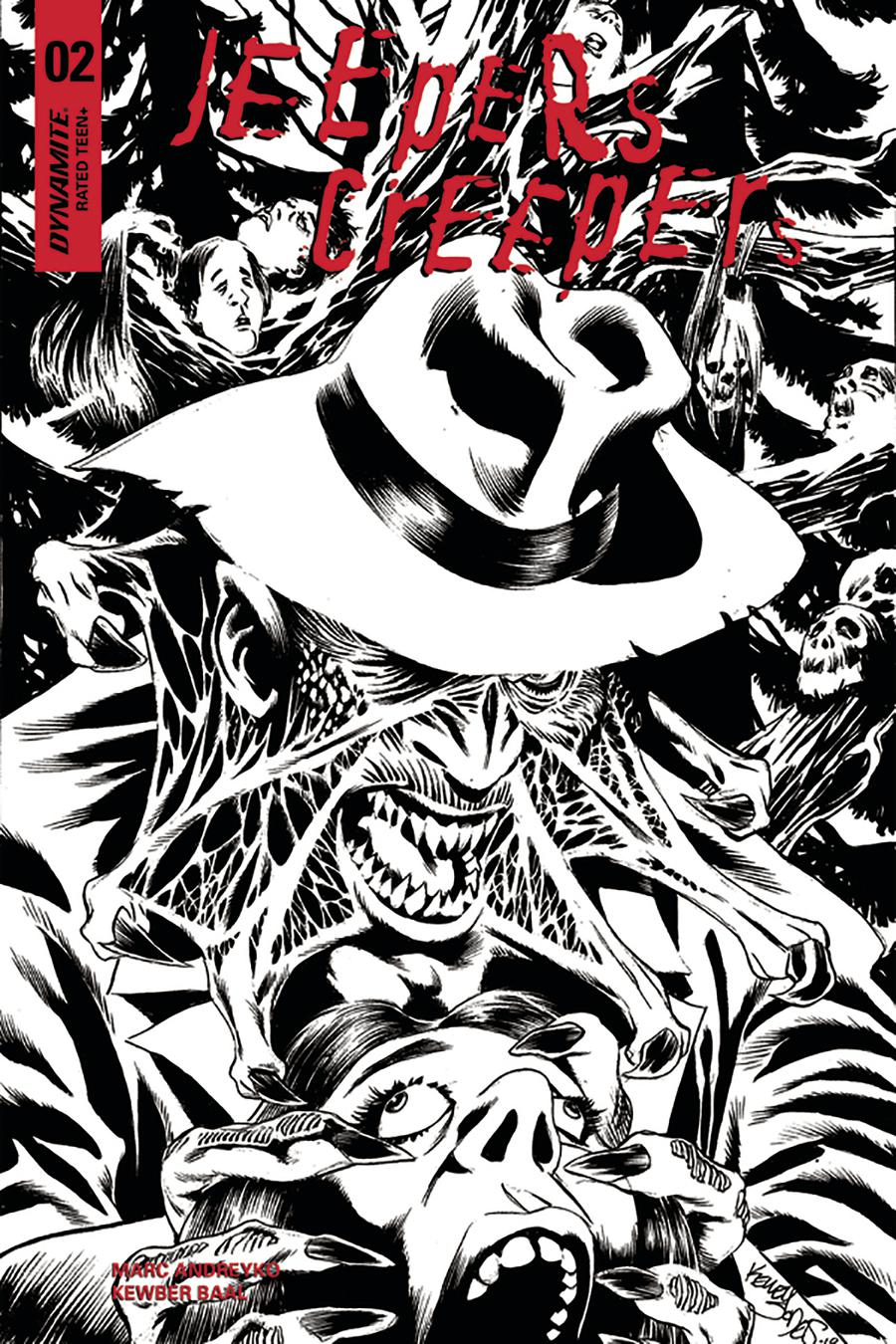 Jeepers Creepers #2 Cover D Incentive Kelley Jones Black & White Cover