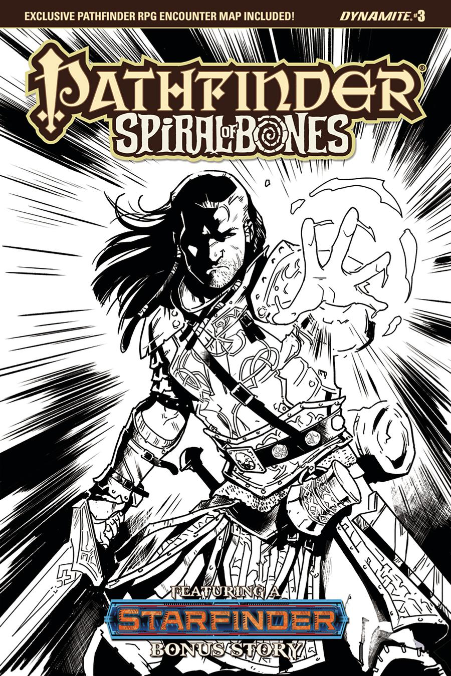 Pathfinder Spiral Of Bones #3 Cover D Incentive Diego Galindo Black & White Cover