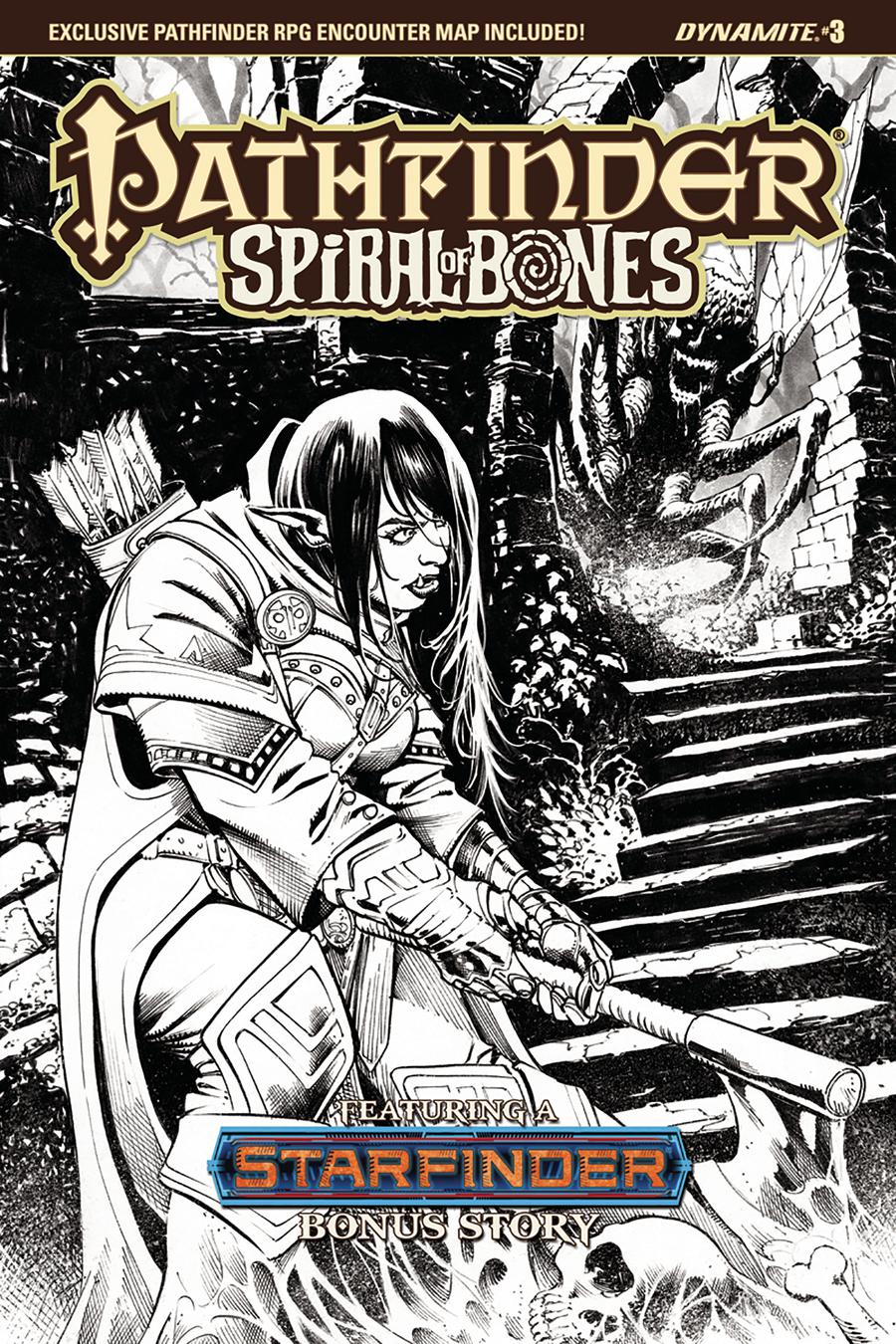 Pathfinder Spiral Of Bones #3 Cover E Incentive Marco Santucci Black & White Cover