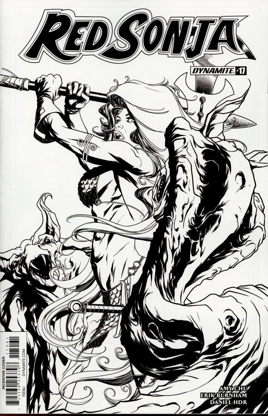 Red Sonja Vol 7 #17 Cover F Incentive Mike McKone Black & White Cover