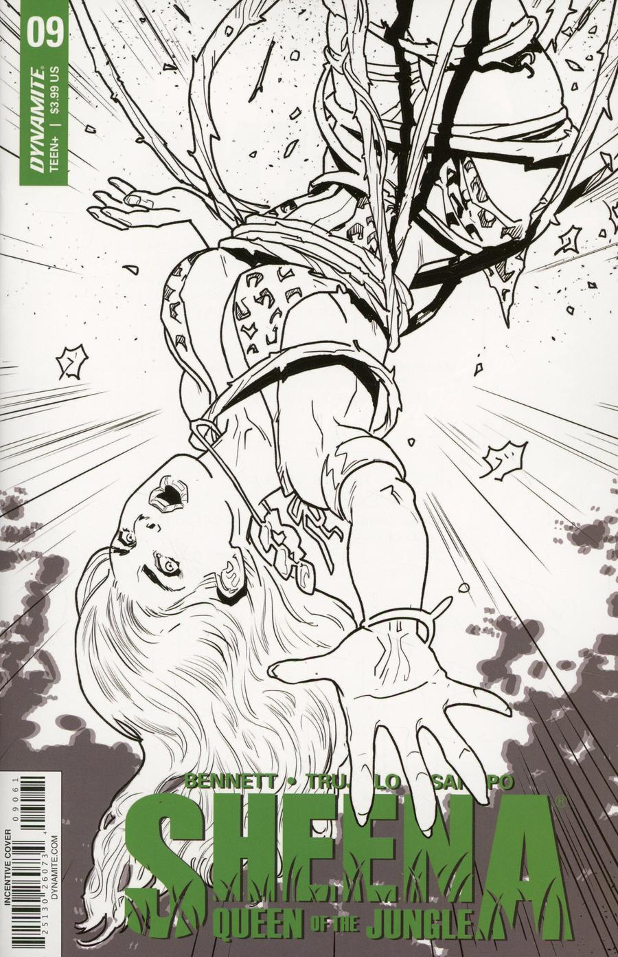 Sheena Vol 4 #9 Cover F Incentive Diego Galindo Black & White Cover