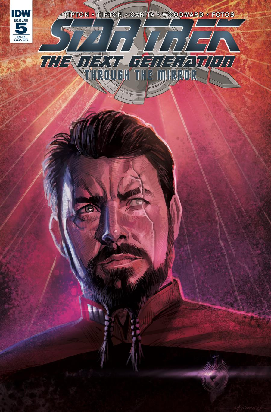 Star Trek The Next Generation Through The Mirror #5 Cover D Incentive Peter McKinstry Variant Cover