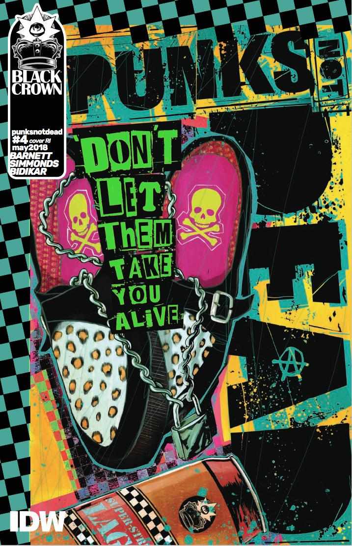 Punks Not Dead #4 Cover C Incentive Martin Simmonds Variant Cover