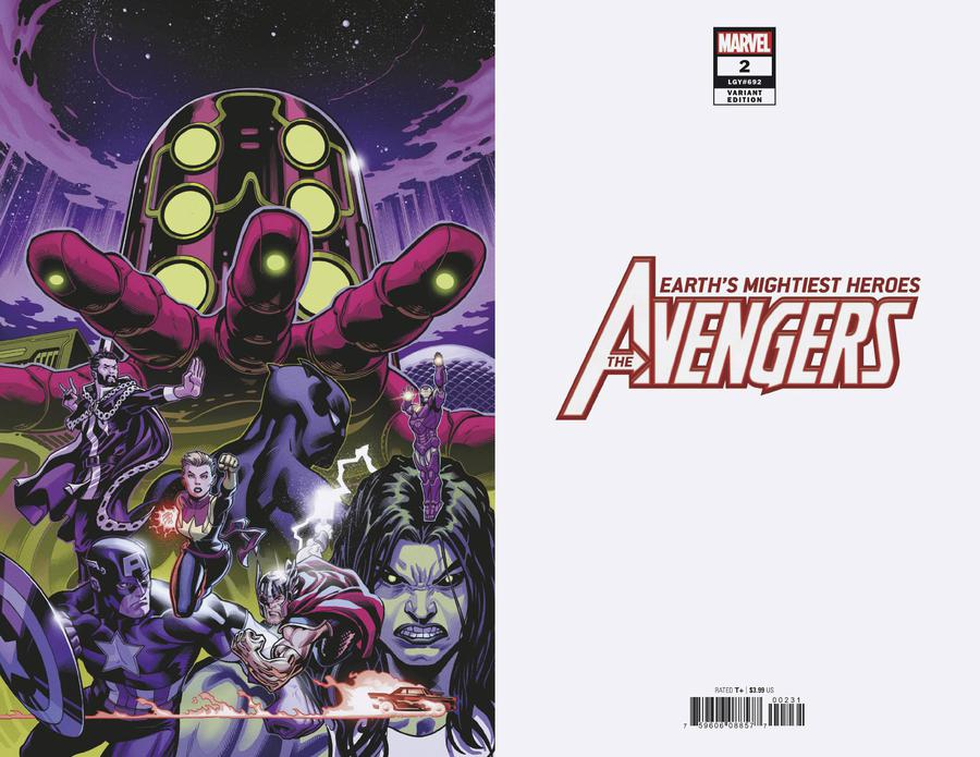 Avengers Vol 7 #2 Cover C Incentive Ed McGuinness Virgin Cover
