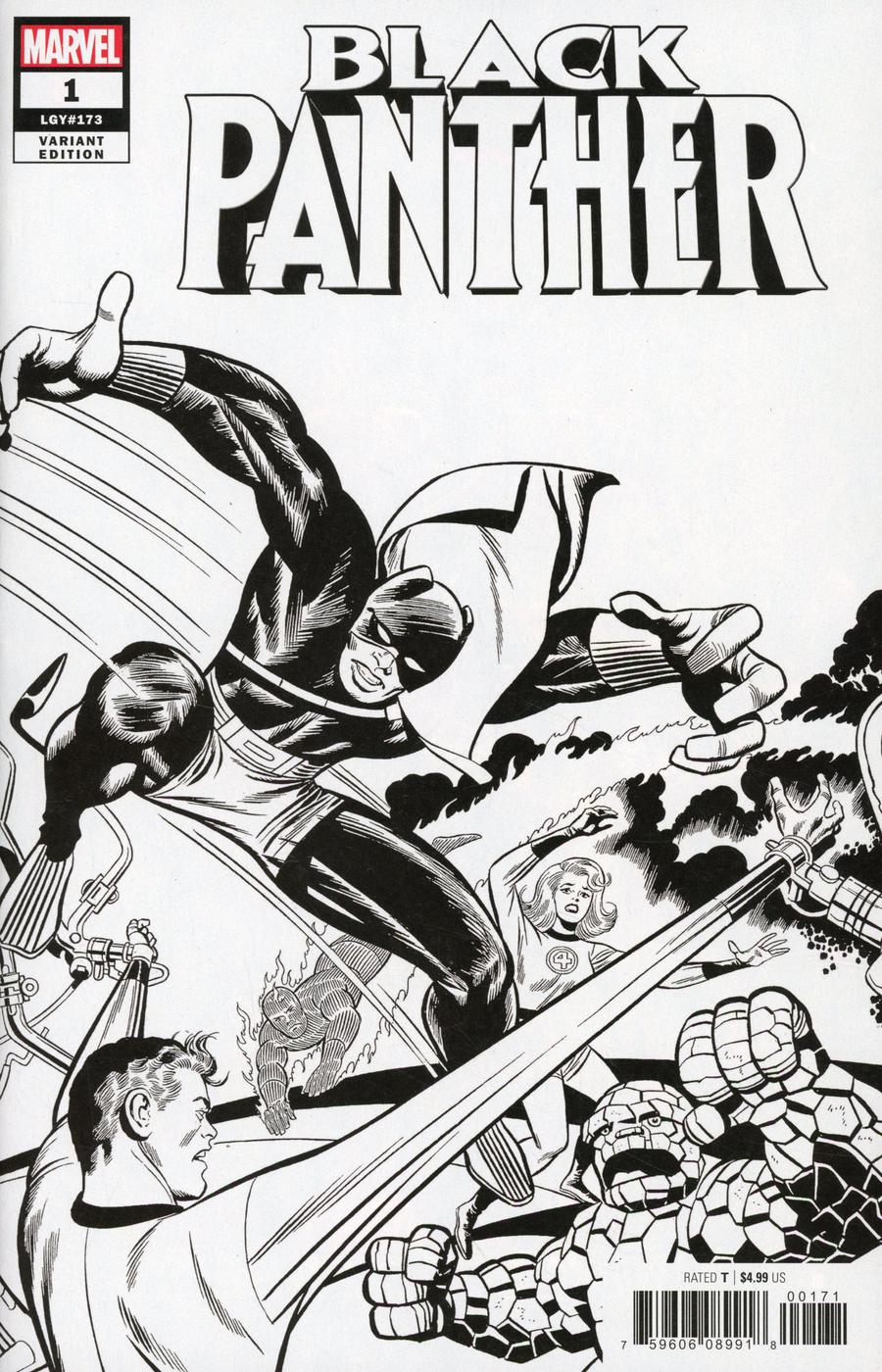 Black Panther Vol 7 #1 Cover L Incentive Jack Kirby Remastered Sketch Variant Cover