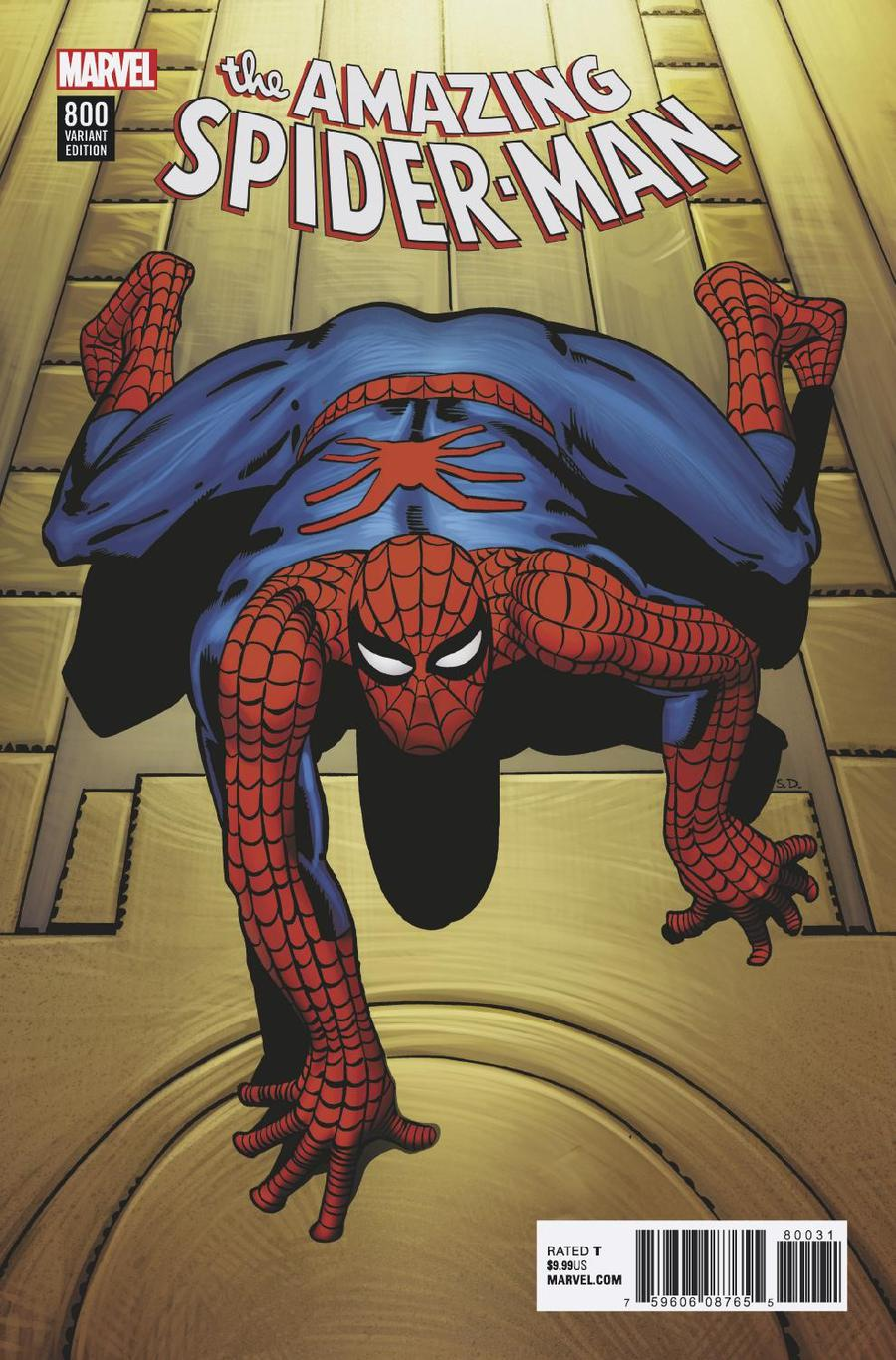 Amazing Spider-Man Vol 4 #800 Cover R Incentive Steve Ditko Remastered Color Variant Cover
