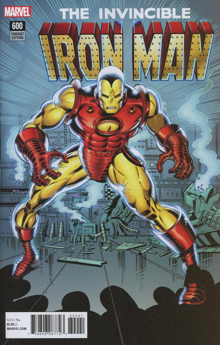 Invincible Iron Man Vol 3 #600 Cover F Incentive John Romita Jr Remastered Color Variant Cover