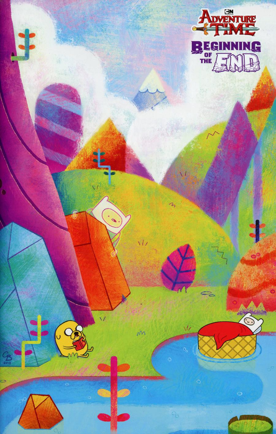 Adventure Time Beginning Of The End #1 Cover C Incentive Corey Booth Title Card Variant Cover