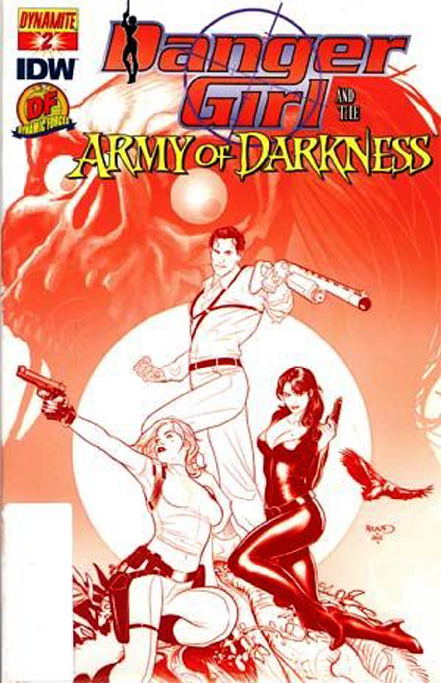 Danger Girl And The Army Of Darkness #2 Cover G DF Exclusive Paul Renaud Groovy Red Cover