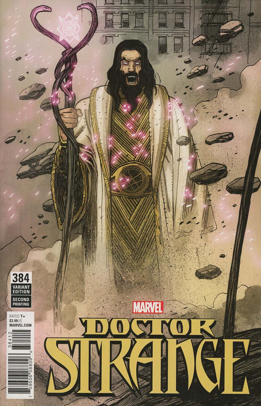 Doctor Strange Vol 4 #384 Cover C 2nd Ptg Variant Mike Del Mundo Cover (Marvel Legacy Tie-In)