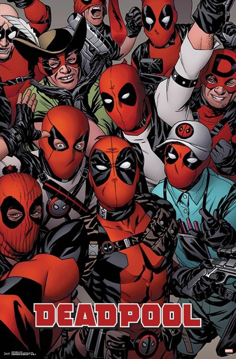 Deadpool Faces Poster