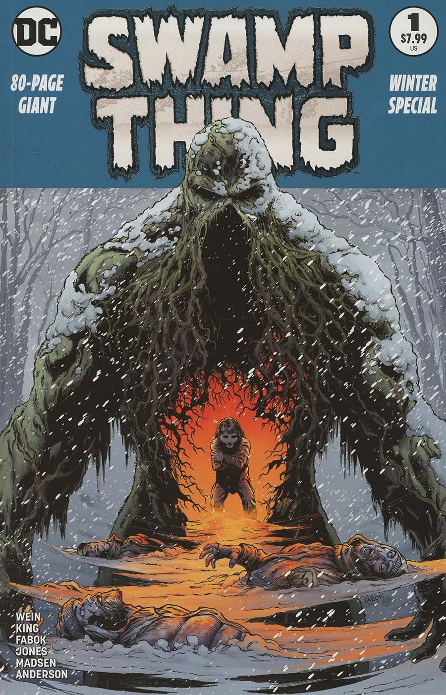 Swamp Thing Winter Special #1 Cover C 2nd Ptg Variant Jason Fabok Cover