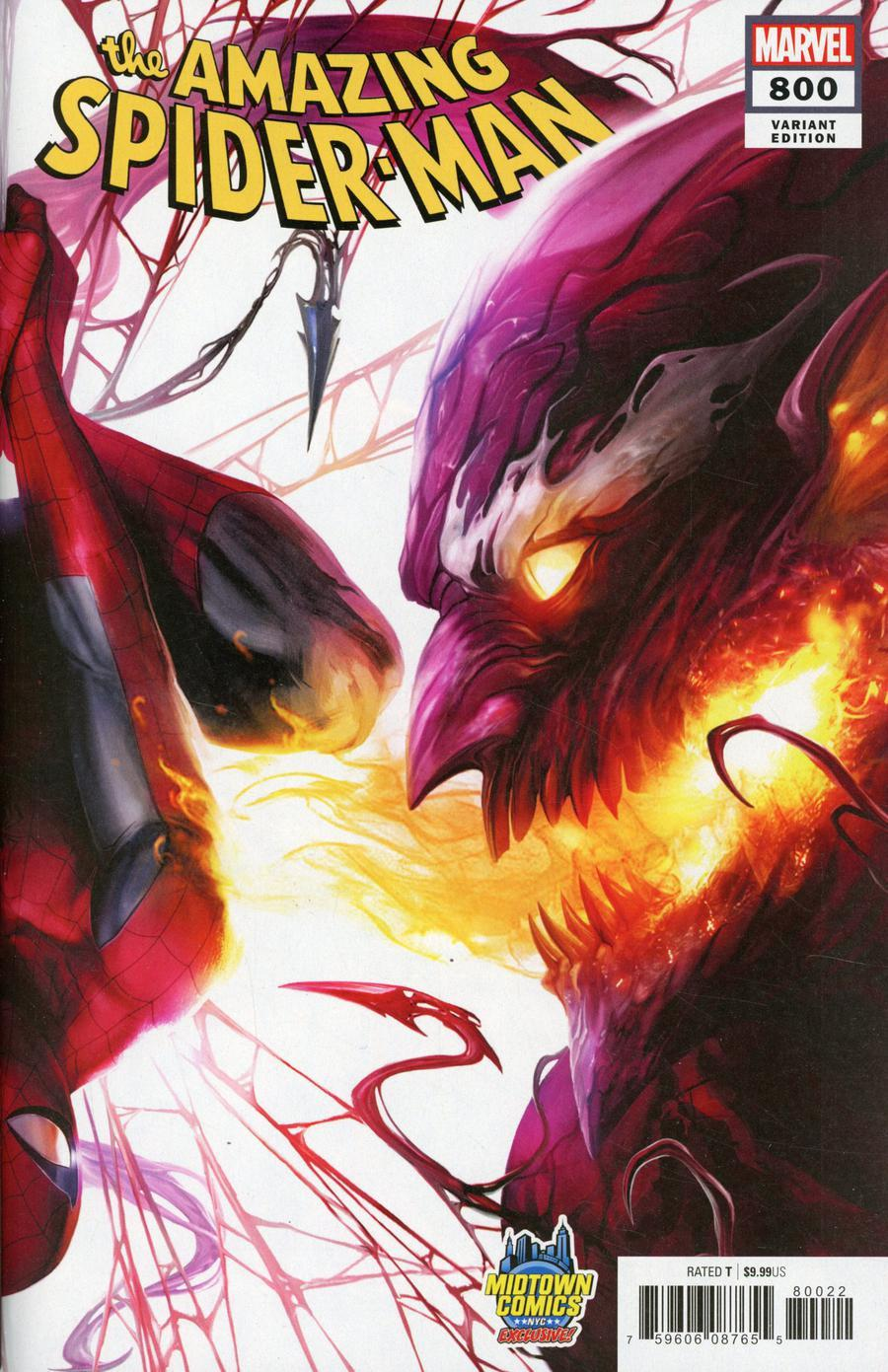 Amazing Spider-Man Vol 4 #800  Midtown Exclusive Francesco Mattina & Will Sliney Connecting Variant Cover (Right Side)