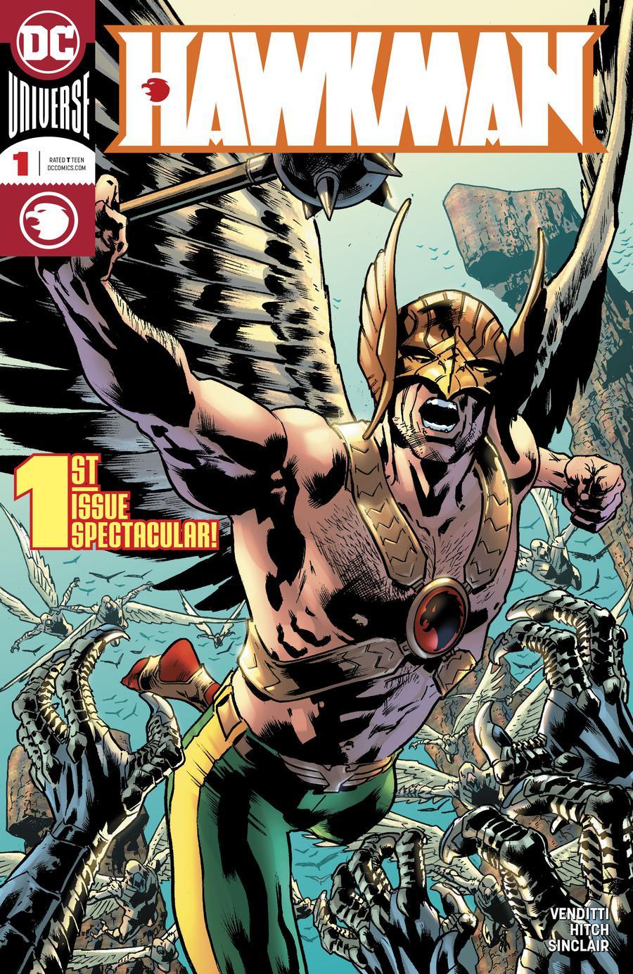 Hawkman Vol 5 #1 Cover A Regular Bryan Hitch Cover