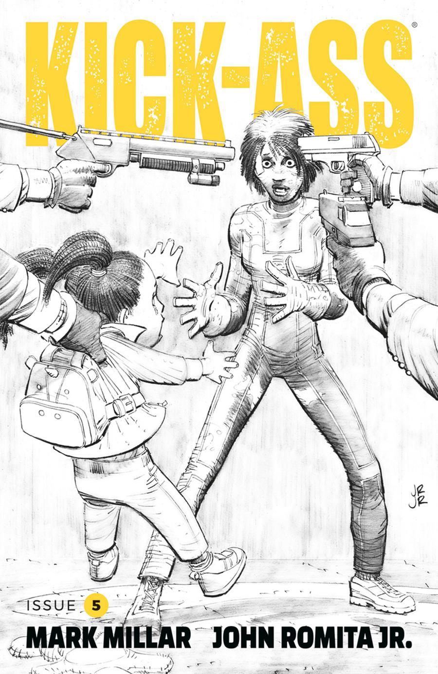 Kick-Ass Vol 4 #5 Cover B Variant John Romita Jr Black & White Cover