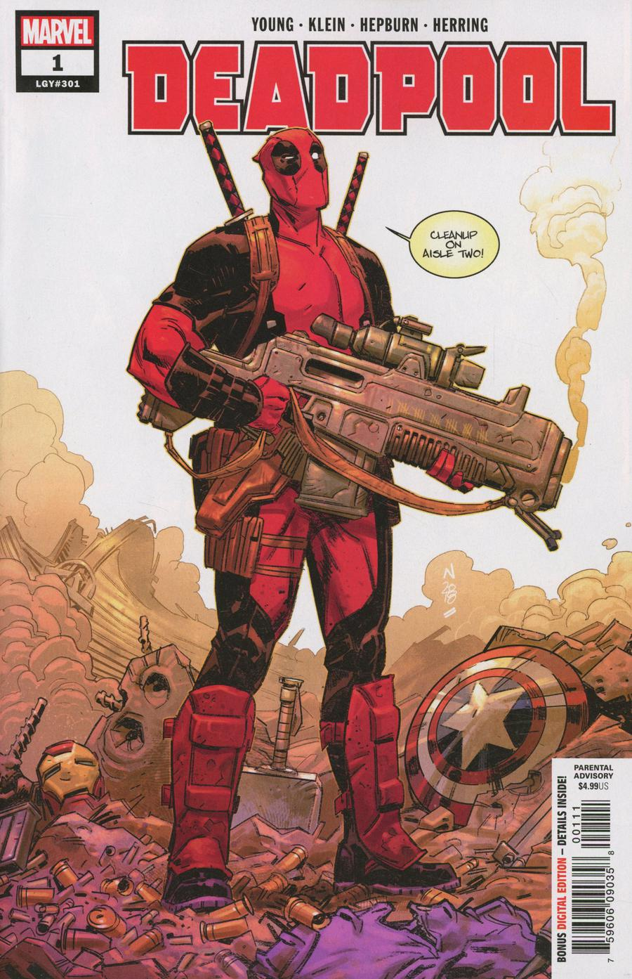 Deadpool Vol 6 #1 Cover A 1st Ptg Regular Nic Klein Cover