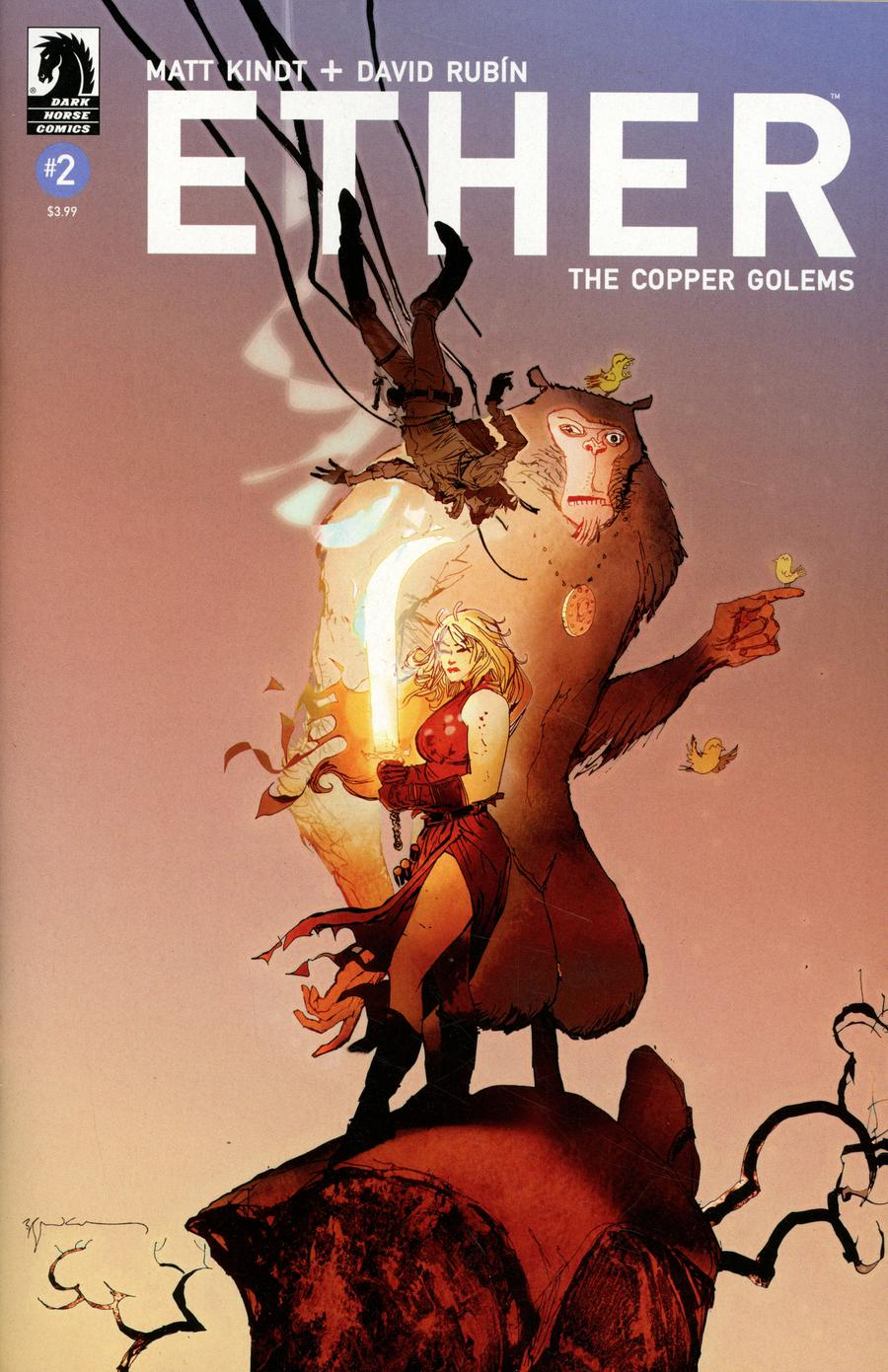 Ether Copper Golems #2 Cover B Variant Bill Sienkiewicz Cover