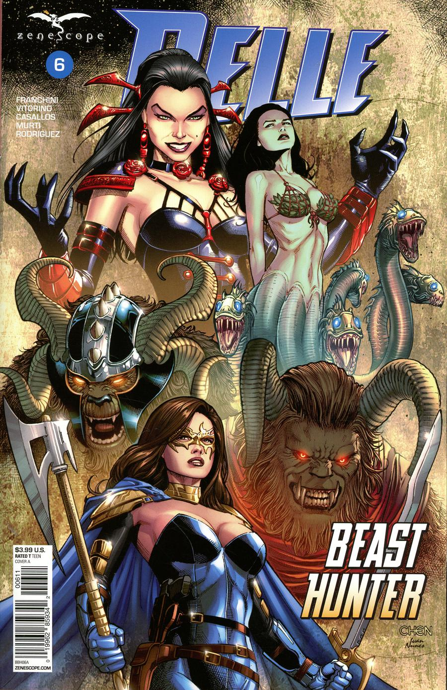 Grimm Fairy Tales Presents Belle Beast Hunter #6 Cover A Sean Chen