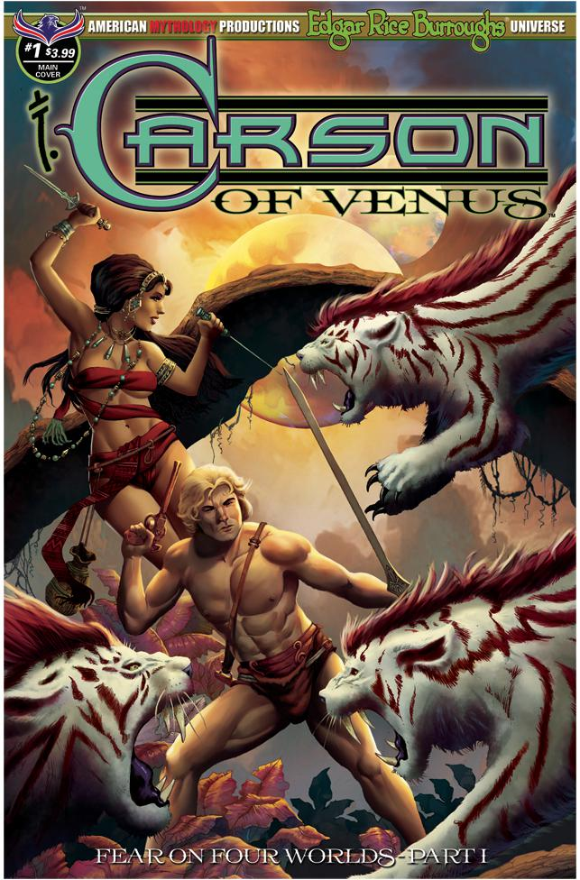 Carson Of Venus #1 Cover A Regular Pulptastic Cover (Fear On Four Worlds Part 1)