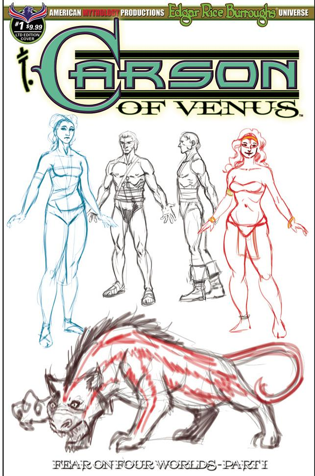 Carson Of Venus #1 Cover C Variant Special Limited Edition Cover (Fear On Four Worlds Part 1)