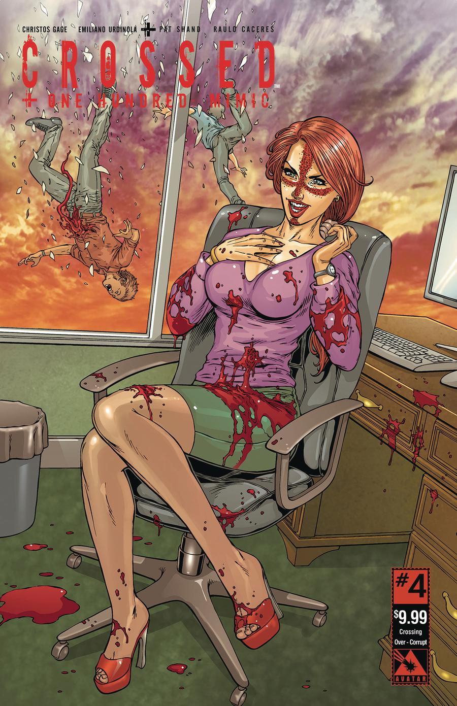 Crossed Plus 100 Mimic #4 Cover I Crossing Over Corrupt Cover