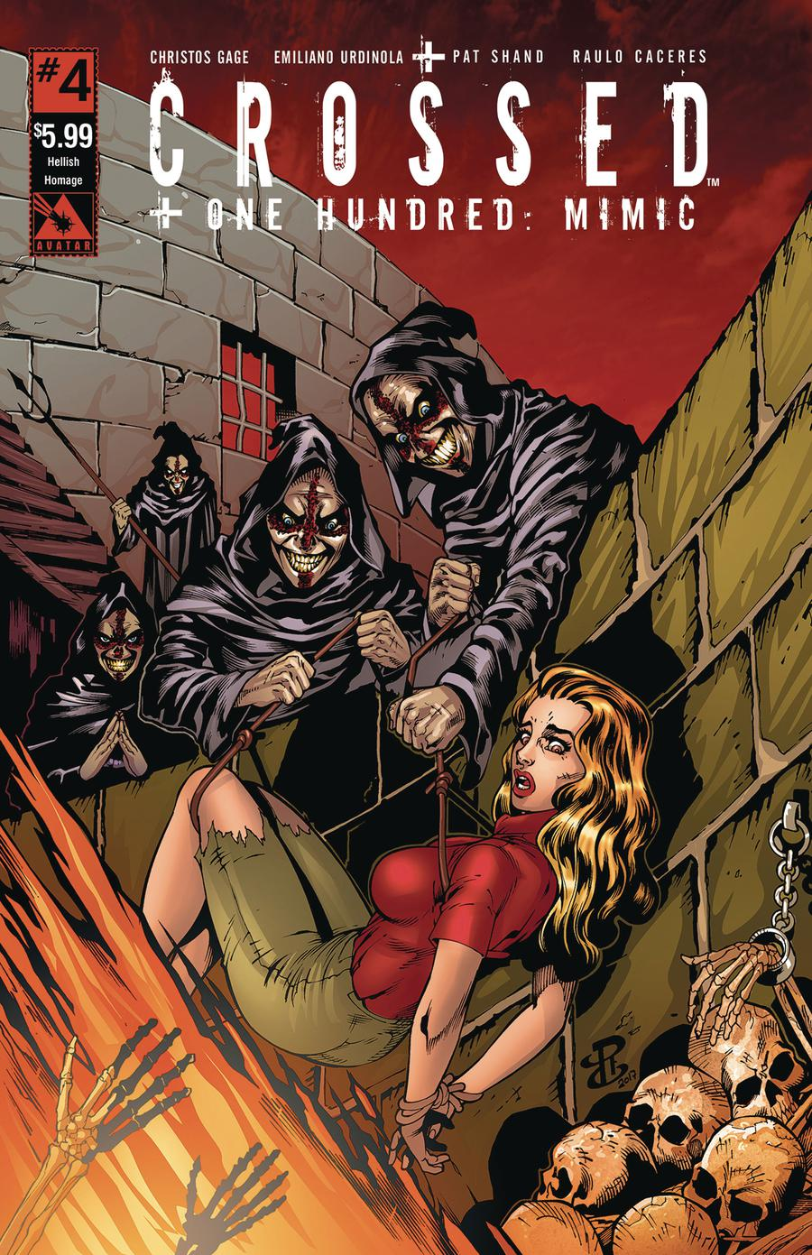 Crossed Plus 100 Mimic #4 Cover D Hellish Homage Cover
